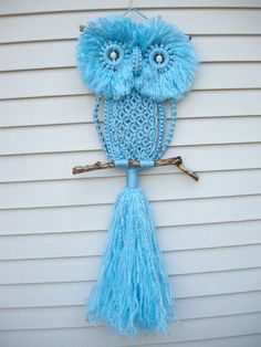 My dad used to teach Macramé in the 70s so this turquoise owl has made me very happy!