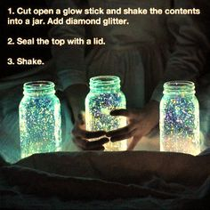 LPT: Make some awesome night decorations - Imgur note: (You don't really need diamond glitter!)