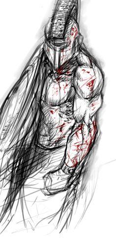 spartan .. random sketch by krysdecker