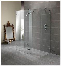 Trendy Glass Door Curtains Diy Walk In Shower Walk In Shower Screens, Glass Shower Panels, Walk In Shower Enclosures, Shower Stalls, Glass Door Curtains, Diy Curtains, Shower Curtains, Shower Tile Designs, Walk In Shower Designs