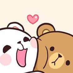 Pin oleh い な di gif di 2019 милые обои, обои для телефона, dan каваи. Cute Cartoon Images, Cute Couple Cartoon, Cute Love Cartoons, Cute Cartoon Wallpapers, Cute Bear Drawings, Cute Kawaii Drawings, Cute Love Gif, Cute Love Pictures, Calin Gif