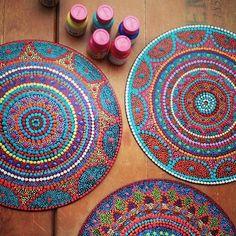 Mandala no disco de vinil! #mandala #art #pointillism #vinyl #records