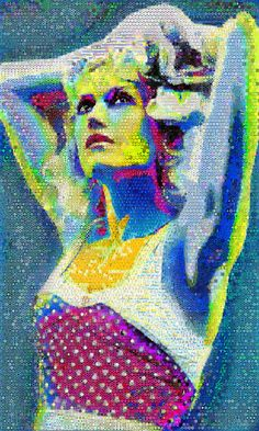 Saatchi Online Artist John Lijo Bluefish; Collage-Sing In Color-Life is short and you've got to get the most out of it. Gwen_stefani made out of abstracts-Dimension 100 x 60 Inches-Canvas
