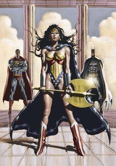 Batman, Superman and Wonder Woman by Mark Texeira