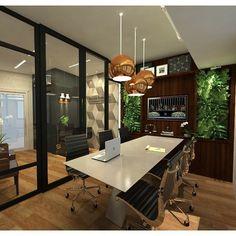 Sala de reunião Escritório de Advocacia by Marília Zimmermann