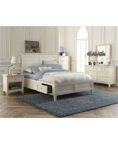 Sanibel Storage Bedroom Furniture 3 Piece Queen Set (Bed, Dresser and Nightstand) | macys.com