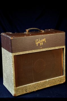 VINTAGE 50s GIBSON GA-77 VANGUARD TUBE AMPLIFIER UNBELIEVABLE TONE grlc885 | This one has 'seen some action!'.
