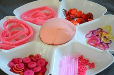 Valentine's play dough invitation - your kids will love the addition of the mirror to this simple activity from And Next Comes L