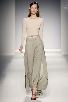 Max Mara - Love the fitted top with the flowing skirt.