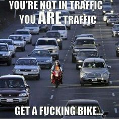 Image result for motorcycle traffic meme