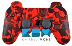 Red Camouflage DualShock 3 PS3 Controller - KwikBoy Modz  #customcontroller #moddedcontroller #ps3controller #ps3 #redcamouflage #gaming