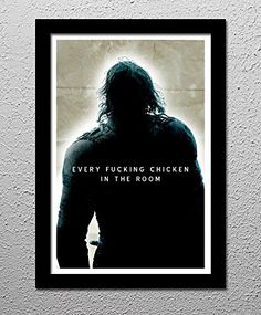 The Hound - Every Fucking Chicken - Game of Thrones - HBO - Original Minimalist Art Poster Print. The Hound - Every Fucking Chicken - Game of Thrones - HBO - Original Poster Your choice of 13x19 or 20x30 All prints signed by the artist. Posters printed on high quality Photo Paper with premium quality inks. The posters are mailed rolled in high-quality tough tubes and cover sheet.