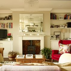 Check out these small living room ideas and design schemes for tiny spaces, from the Ideal Home archives. Take a look at the best small living room ideas Traditional Living Room, Soft Furnishings Living Room, Cosy Living Room, Livingroom Layout, Home And Living, Living Room Diy, Living Room Designs, Home Living Room, Purple Living Room