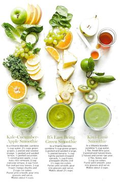 Kale-Cucumber-Apple Smoothie – In a Vitamix blender combine cup water 2 cups gr… – Healthy Green Smoothies – Detox Healthy Green Smoothies, Apple Smoothies, Fresco, Gourmet Recipes, Healthy Recipes, Healthy Snacks, Vitamix Blender, Clean Eating, Healthy Eating