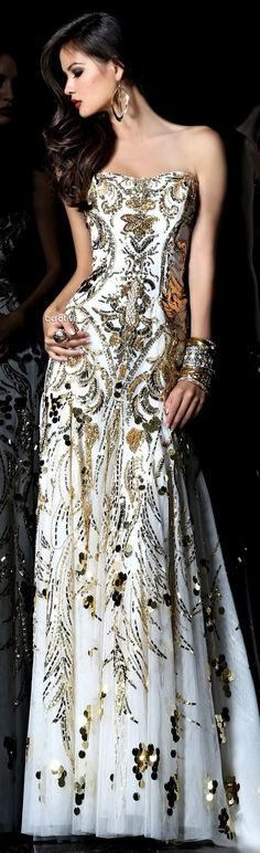 White gold gown