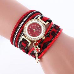 Bohemia Style Crystal Key Tassel Watch