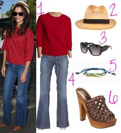 Katie Holmes.  I don't care what people say about her...I like her and her style