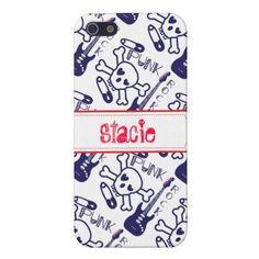 Personalized Girly Purple Punk Rock iPhone 5 Case