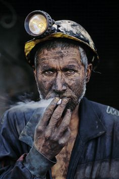 Miner portrait photography