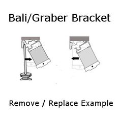 Hidden Graber Bali Crystal Pleat Mounting Bracket Remove And Replace Example Mounting Bracketsblind
