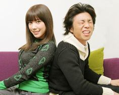Riisa Naka and Akiyoshi Nakao