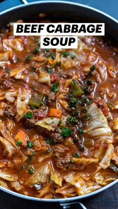 Beef Cabbage Soup, Cabbage Soup Recipes, Healthy Soup Recipes, Low Carb Recipes, Yummy Recipes, Whole Food Recipes, Dinner Recipes, Cooking Recipes, Lemon Chicken Piccata