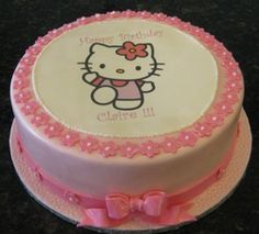 Huge Hello Kitty Cake