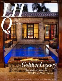 LHQ16-SUMMER  Luxury Home Quarterly prepares for the summer heat with a look at cool and refreshing interior design elements, as well as ambitious homes from builders and architects who were inspired by the natural landscape.  From the mountain tops of Aspen to the sunny coasts of Florida, we focus on some of the most luxurious and relaxing homes perfect for an ideal getaway.