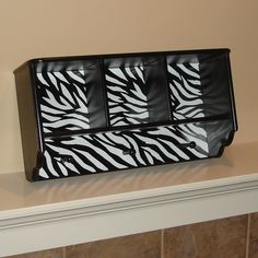 Black and White Zebra Striped Wall Shelf Teen Girl Bedrooms, Zebra Bedrooms, White Zebra, Green Zebra, Bedroom Stuff, Dream Bedroom, Zebra Print Rooms, Baby Rooms, Kids Rooms