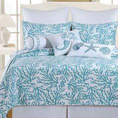 C & F Cora Blue Bedding By C & F Bedding, Comforters, Comforter Sets, Duvets, Bedspreads, Quilts, Sheets, Pillows: The Home Decorating Company