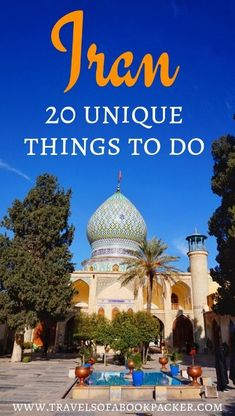 20 incredible things to do in Iran. From top attractions to food and local experiences. Travel inspiration for visiting Iran. #iran #travelinspiration #thingstodoiran