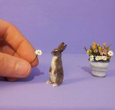Mr. Bunny, a OOAK~Realistic~Unique~Miniature~Handmade~Easter Bunny Sculpture. | eBay