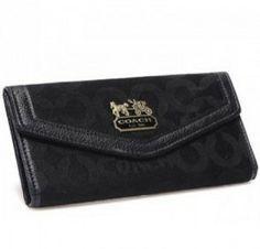 Coach Madison Op Art Shantung Slim Envelop Purse Black U08014           Deals price:$49.38    http://www.gotcoachoutlet.com/
