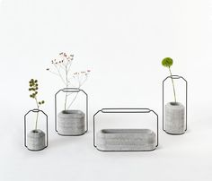 Weight Vases from ECAL designed by Decha Archjananun (Thinkk Studio)