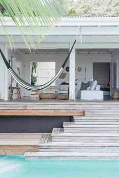 Open indoor-outdoor house in Caribbean St Barth Island... summer time envy Enjoy the lifestyle of the couple Kate and Matt Holstein... Dreaming time!!!! Maison