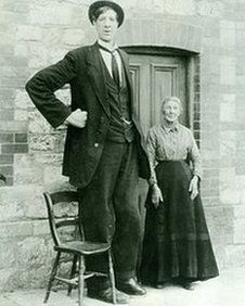 """He was known as the English Giant, but could also have been called the Friendly Giant.    He was Frederick John Kempster, and he joined Astley and Company's American Circus at Chigwell in Essex as a professional giant in June 1911 - not as a """"freak"""" but because he loved people.    """"It is said he was a happy, well-adjusted chap who liked to talk to the public,"""" said his great-nephew Jim Kempster."""