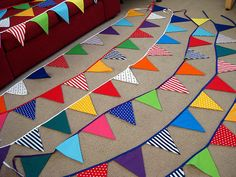 Bunting for a circus themed b'day party. | Lucy Bath | Flickr