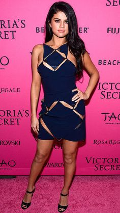 Best dressed at the Victoria's Secret Fashion Show after-party: Selena Gomez in a navy Mugler cutout mini dress