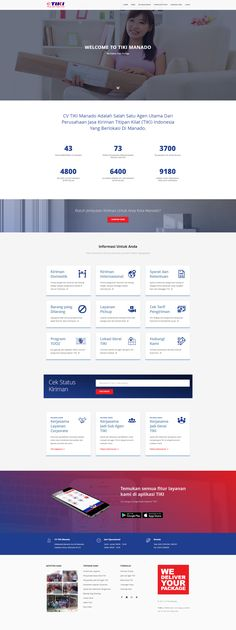 Website design project for a courier services company in Indonesia.