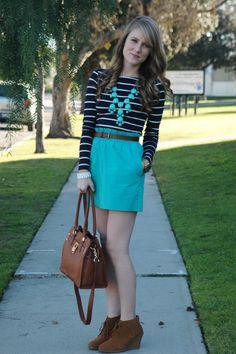 Stripes & turquoise.