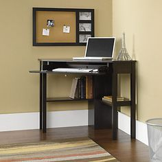 Beginnings Cinnamon Cherry Corner Computer Desk - Sauder Office Furniture