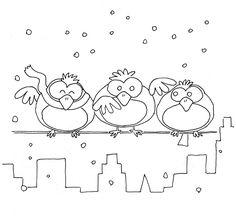ptáčci v zimě - Hledat Googlem