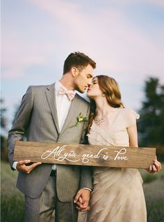 Ruche Bridal Lookbook | a hand painted wooden sign is always a good idea