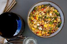 Une recette inratable de Salade de quinoa aux nectarines, fêta et haricots verts Thermomix sur Yummix • Le blog culinaire dédié au Thermomix !