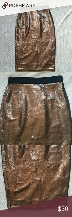 NWOT Banana Republic Sequin Skirt Size 0 Brand new without tags.  Waist: approx. 13 inches.  Length: approx. 28 inches. Banana Republic Skirts