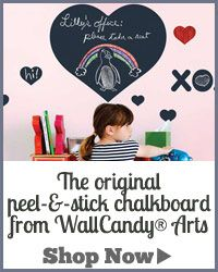 You gotta love peel & stick chalkboards! They are so convenient!
