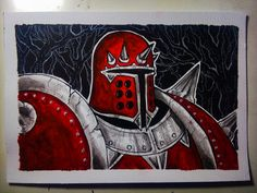 Lord Deimos - Mace the Dark Age watercolor