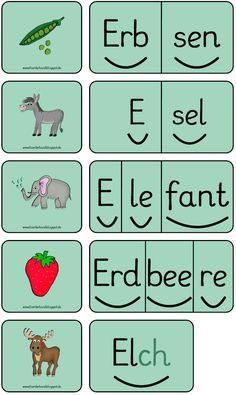 Domino, Buchstabe E, Silbenwörter, Lesen, Freiarbeit, Förderband, Blog, Inklusion, Förderschule,Lesedomino