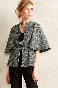 Aurelia Textured Capelet - anthropologie.com