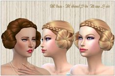 Sims 4 CC's - The Best: Medieval Side Buns Hair for Females by MythicalDre...